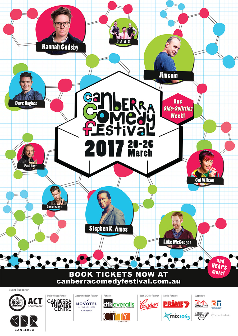 Canberra Comedy Festival visual design - 2016
