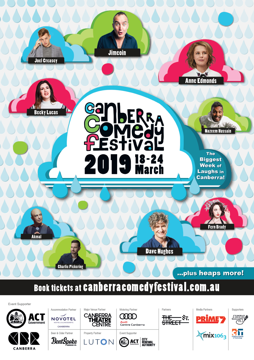 Canberra Comedy Festival visual design - 2019